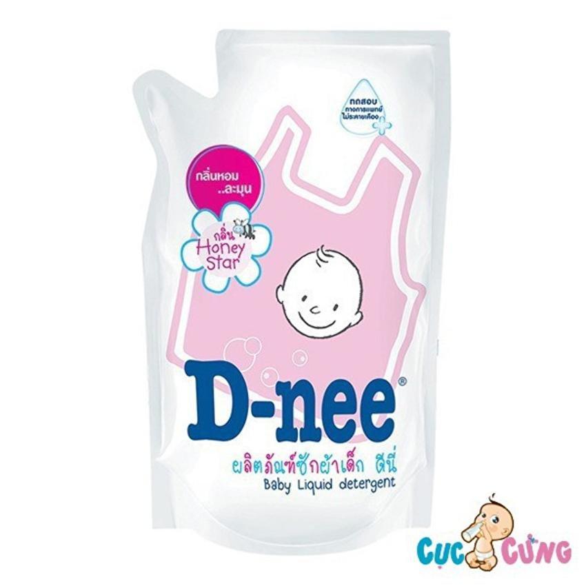 Dung dịch giặt xả Dnee gói 600ml (hồng)