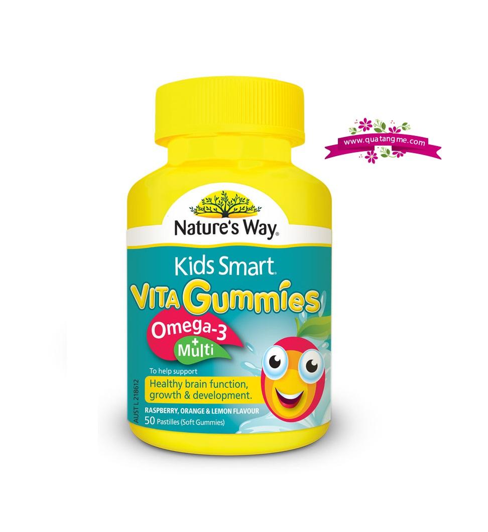 Kẹo dẻo Kids Smart Vita Gummies Omega 3 Multi 50 viên