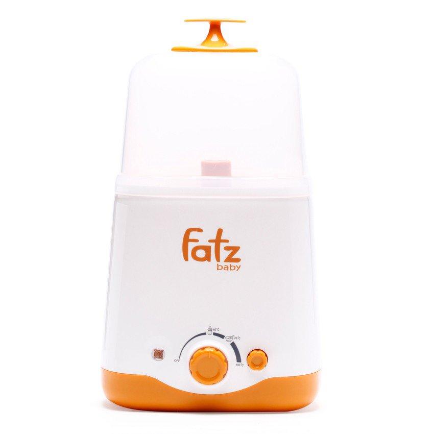 Máy hâm sữa tiệt trùng 2 bình cổ rộng FatzBaby FB3011SL (Cam)