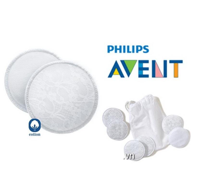Miếng lót thấm sữa Avent giặt được 6 cái SCF155-06