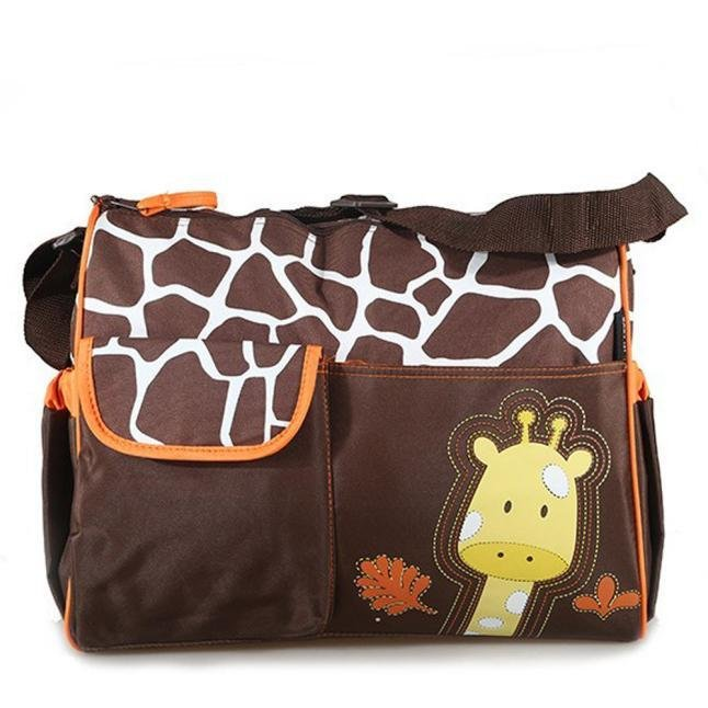 Multi Function Baby Diaper Nappy Changing Bag Changing Mat Mummy Handbag Orange
