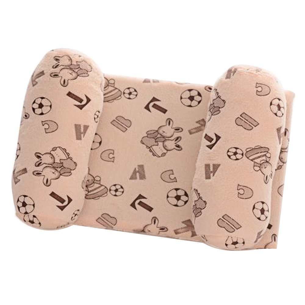 Newborn 0-1 Years Old Babies Infants Kids Head Positioner Anti-bias Shaping Anti Roll Sleeping Safety Protection Pillow Off-white