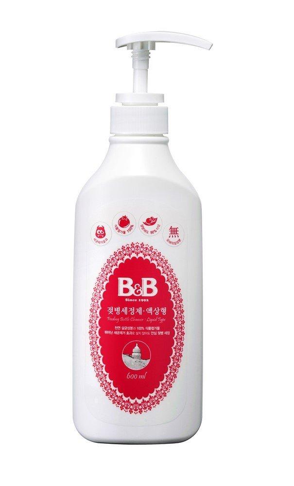 Nước rữa bình sữa dành cho em bé dạng lỏng B&B 600ml