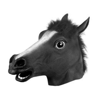 Party Horse Head Latex Mask Animal Zoo Halloween Costume Prop ToysNovel - intl