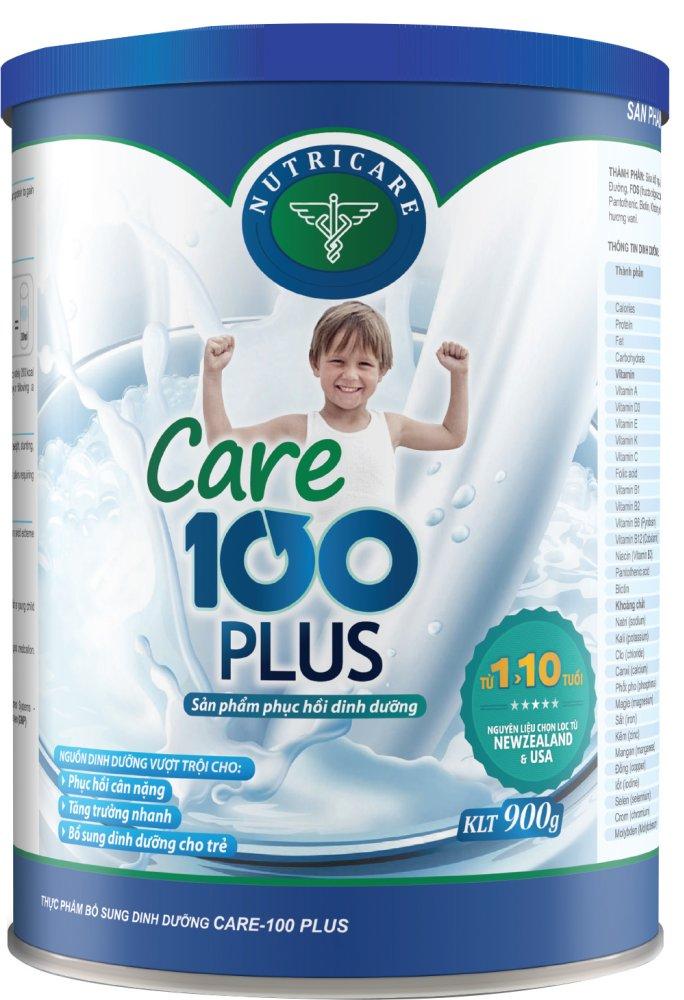 Sữa cho bé Nutricare Care 100 Plus 900g