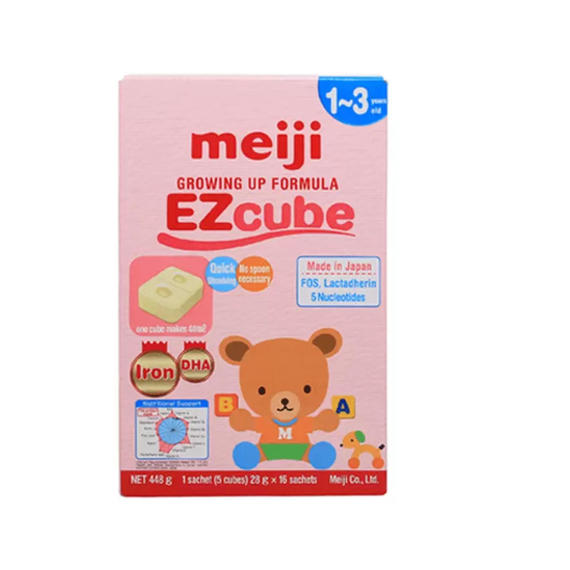 Sữa Meiji thanh (1-3 tuổi) Growing up Formula EZCube (28g x 16 thanh)
