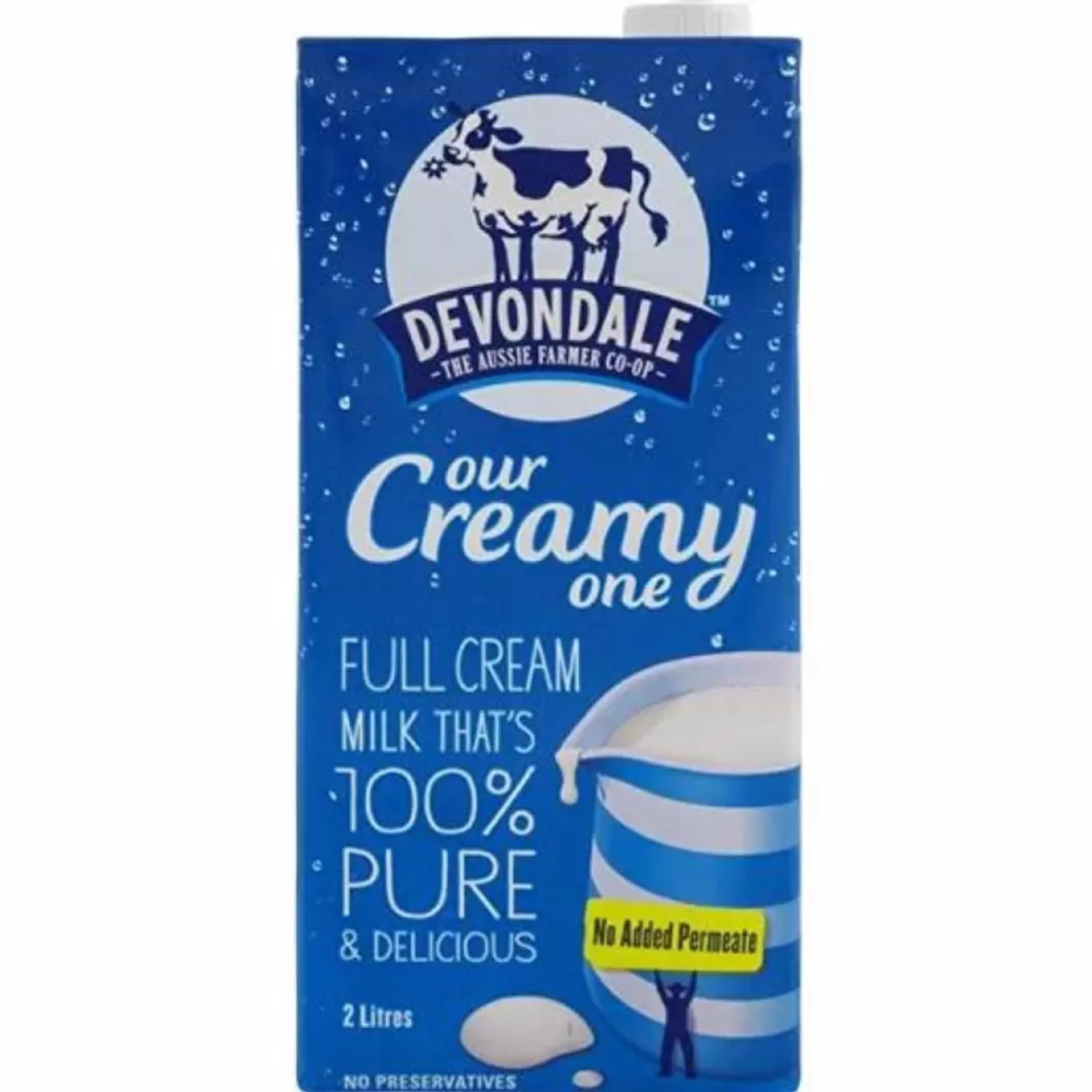Sữa Tươi Devondale Nguyên Kem 2 Lít