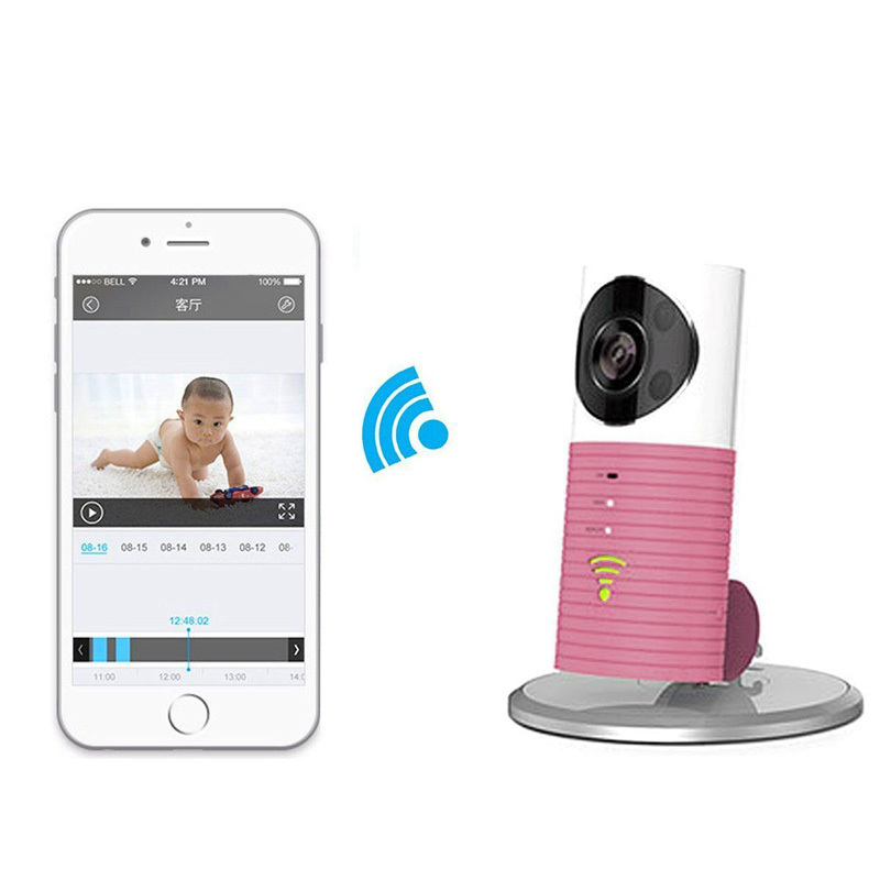 Wifi Home Security Camera Baby Monitor Smart Phone Audio Night Vision Rose - INTL