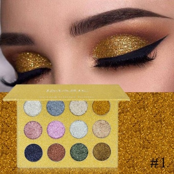 IMAGIC 12 Colors Unique Glitter Long-lasting Eye Shadow PaletteMakeup #1 - intl