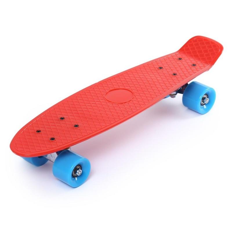 Mua 22 Inches Four-wheel Street Long Skateboard Mini Cruiser Fish Banana Board (Red) - intl