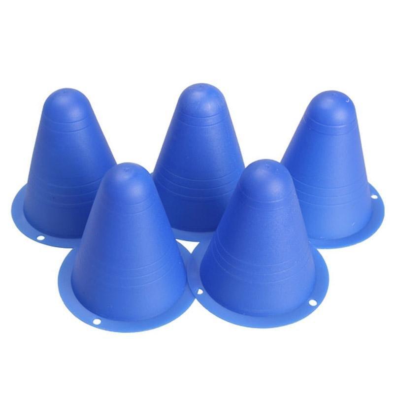 Mua 5Pcs Marker Cones Slalom Skating Rugby Fitness Drill Blue - intl