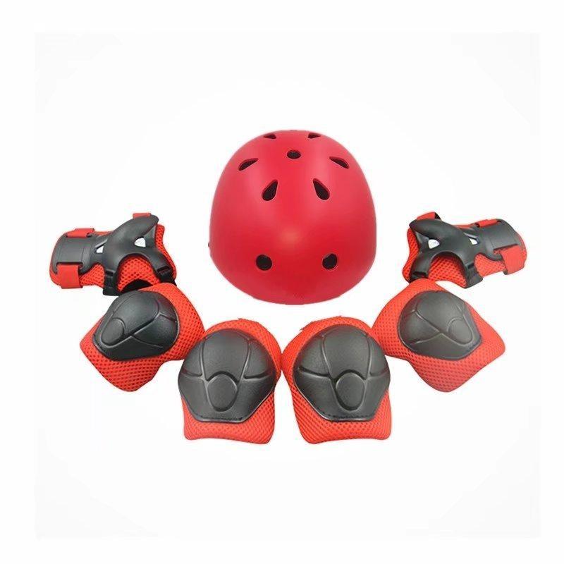 Mua 7pcs Protective Gear Helmet Elbow Wrist Knee Pads Adjustable Skateboard Roller Skating Cycling 1059 - intl