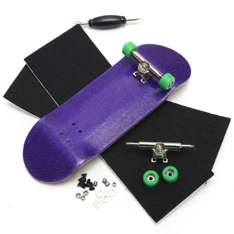 Mua Basic Complete Wooden Fingerboard Finger Scooter with Bearing Grit Box Foam Tape Purple - intl
