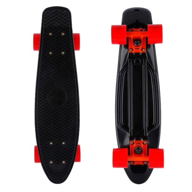 Mua Cruiser Style Retro Skateboard Deck Board Kids Teenage 22 Inch (Black) - intl