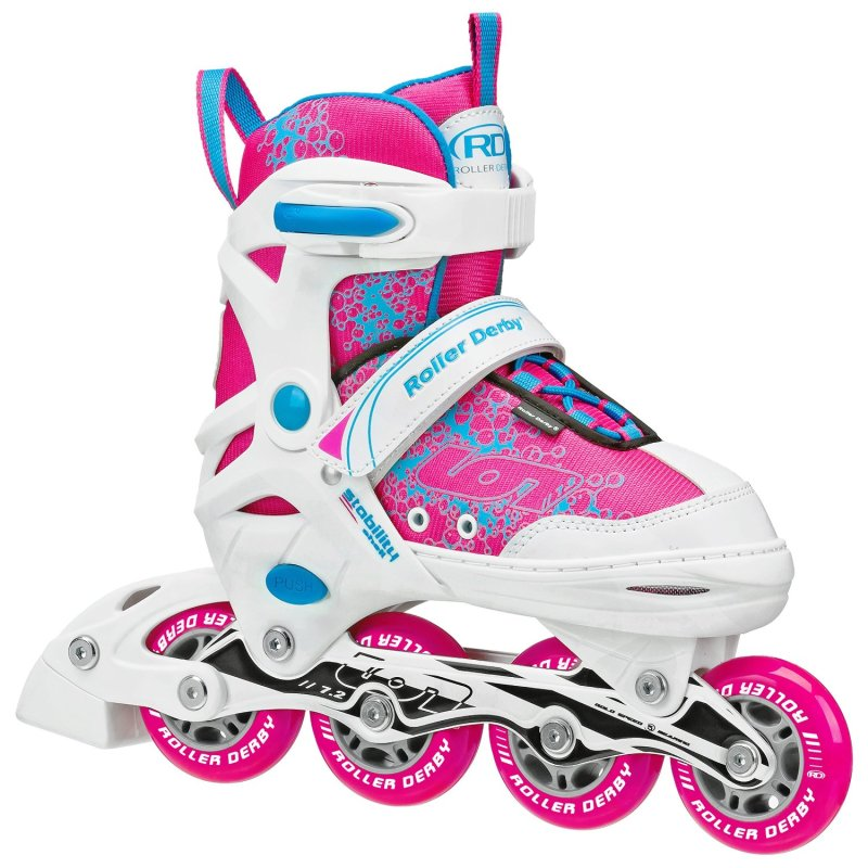 Mua Giầy trượt Patin 4 bánh Roller Derby Inline Iron 7.2 trẻ em (bé gái), size thay đổi được (34 - 38)