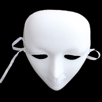 Scary White Face Halloween Masquerade DIY Mime Mask Ball PartyCostume Mask (Intl)
