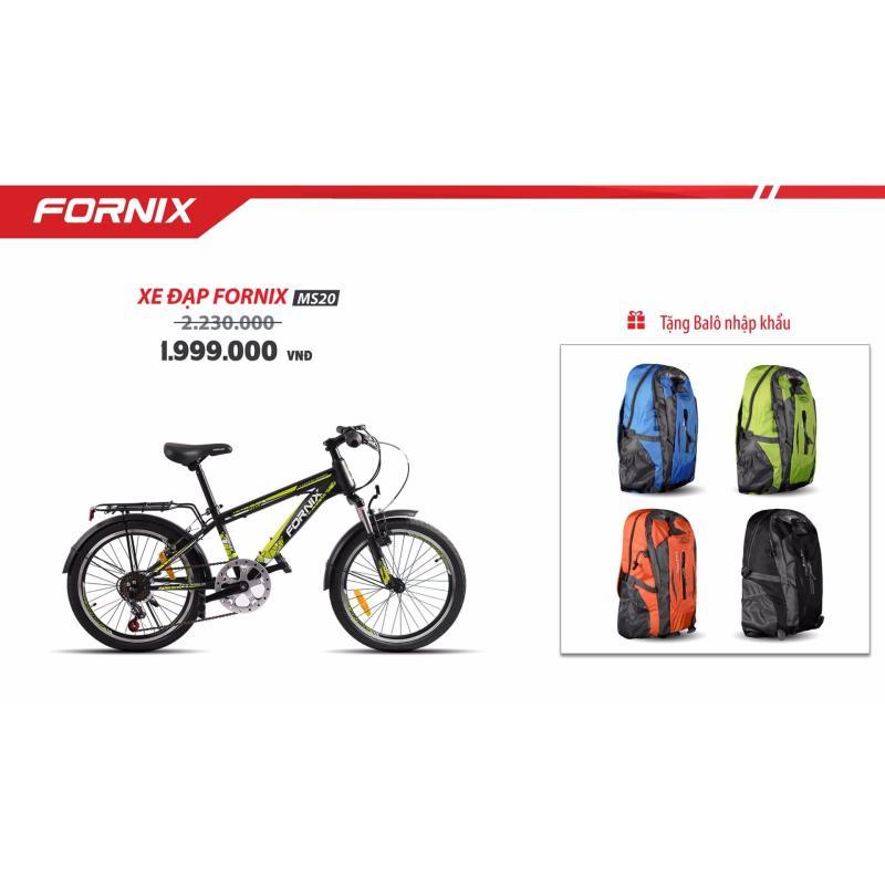 Mua Xe đạp địa hình FORNIX MS20 ( Đen xanh lá ) + tặng balo nhập khẩu