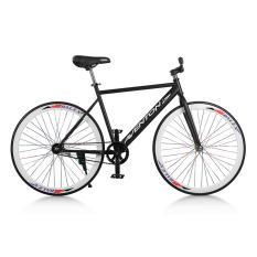 Xe đạp Fixed Gear Single Aventon New 2018 (Đen phối trắng)