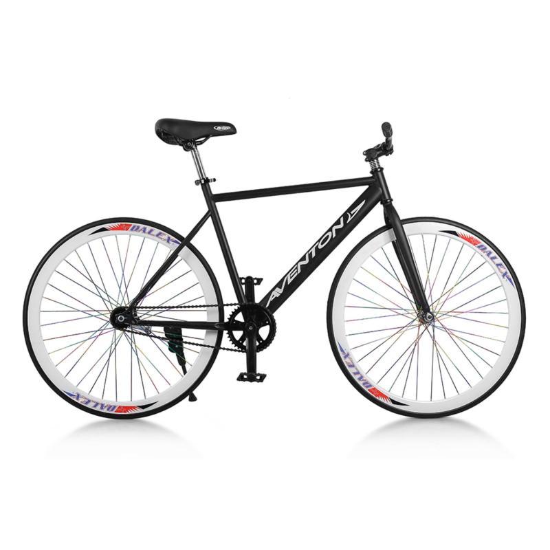 Phân phối Xe đạp Fixed Gear Single Aventon New 2018 (Đen phối trắng)