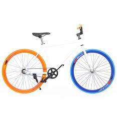 Xe đạp Fixed Gear Single Cổ Chữ A New 2017 (Xanh)
