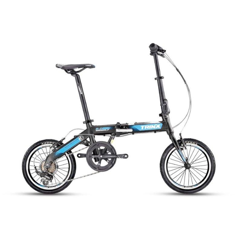Mua Xe đạp gấp TRINX WARWOLF2.0 2016 (đen trắng xanh dương)