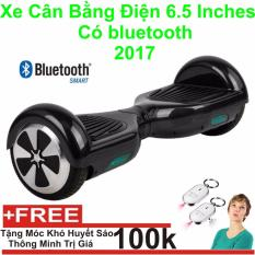 Xe Tự cân bằng điện 6.5 inches Có bluetooth 2017(Đen) + Móc Khoá Huyết Sáo Thông Minh - Hàng Nhập Khẩu