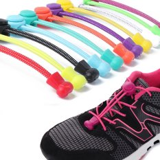 1 Pair Newest Women Lady Men Elastic No Tie Locking Trainer Running Athletic Sneaks Shoe Laces (ColorᆪᄎGold) - intl