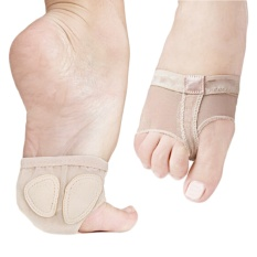 Adult Kid Girls Breathable Foot Thongs Ballet Dance Toe Pad Socks Forefoot Cushion for Relieve Foot Pains Size L - intl