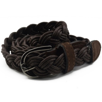 Belt Braided People's Genuine Leather Casual Belt Different ColorsCoffee - intl