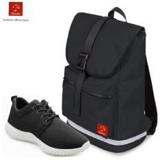 Combo Balo Classical BLL005BA + Giày Sneaker Nam GS062 (Đen) - CB102
