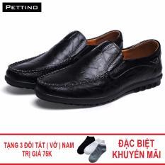 Combo Giày Tây Cao Cấp Tặng Tất - Pettino GL-08 (đen)