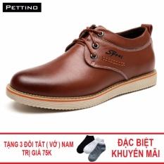 Combo Giày Tây Tặng Tất - Pettino GD-02 (đen)