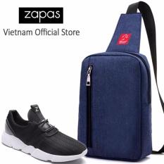 Combo Túi Messenger Thời Trang Glado DCG026BU + Giày Sneaker Nam GZ016 (Đen) - CB126