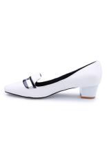 Giày bít cổ điển gót thô Senta M2000 (Đen)