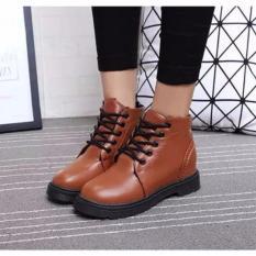 Giày Boot Nữ Cột Dây Da Mềm Thời Trang Msp 2779 (Nâu)
