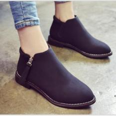 Giày Boot Nữ Kiểu Hàn Quốc Sodoha SD59V689B Black