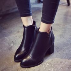 Giày bốt nữ chất da mềm gót cao 7cm MSP 2844