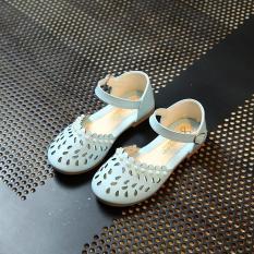Giày búp bê đính hạt trai Gokichi B034 (Xanh)