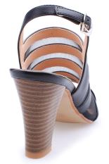 Giày cao gót dây phối lưới Senta YL02 (Đen)
