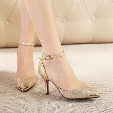 Giày cao gót mũi kim loại cao cấp - LN124