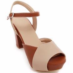 Giày Cao Gót Thời Trang Erosska Màu Nâu Kem - CG001