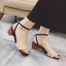 Giày gót thấp phong cách korea ( hồng )