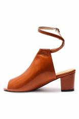 Giày kiểu boot hở mũi có quai hậu Senta (Nâu)