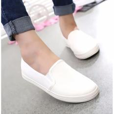 Giày lười nữ đế êm KSslipon1 (trắng)