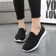 Giày lười nữ lưới thoáng khí, đế chống trơn - GiayKS-SL001 (đen)