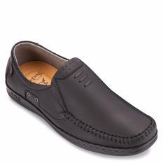 Giày mọi nam da bò SunPoLo LS2098DRN (Đen)