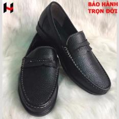 Giày nam -giày công sở nam - giày lười nam - giày da bò(đen) cấp bởi VNHIEU