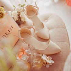 Giày nữ cao gót 7 phân - trang nhã thanh lịch- màu hồng