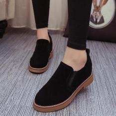 Giày Oxford Nữ da lộn ôm chân - MSP 2727 (Đen)