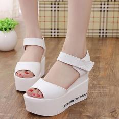 Giày sandal đế bánh mì nữ SD147T(Trắng)
